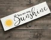 You are my sunshine sign- kid bedroom sign on Reclaimed Wood, farmhouse decor, summer decor, sunshine sign, you are my sunshine, summer sign