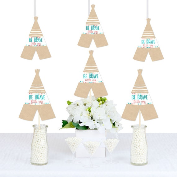 Be Brave Little One Decorations DIY Teepee Shaped Party