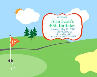 Golf Party Invitations/Thank You Cards