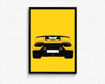 Lamborghini Huracan Performante A3 Print