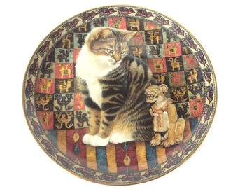 Lesley Anne Ivory cat plate - Malteazer in Peru - cat lovers - Cats around the World