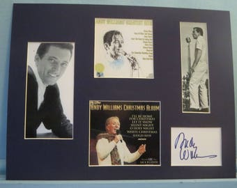 Famed Singer - Andy Williams and his autograph