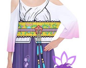 Yuna Flutter Sleeve Cotton T Shirt Final Fantasy 10