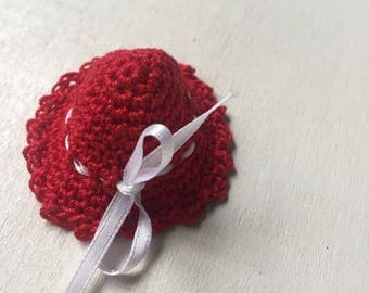 SET OF 10 Crochet Hat ,Crocheted Baby Shower Favor/Baby Shower Favors