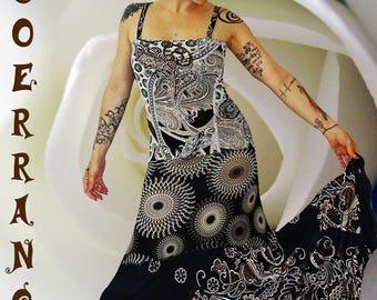 Long dress in stretch mesh 'Lovely day'