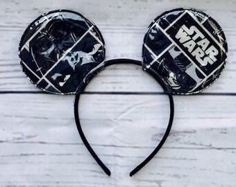Star Wars Mickey Ears- Darth Vader Mickey Ears- Ready to Ship