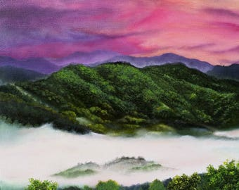 The Great Smoky Mountains Series- No. 32. Original Oil Painting on Panel