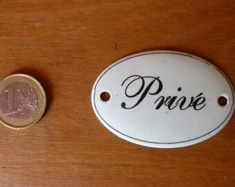 """Private"" metal plate"