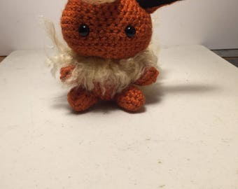 Made to order Flareon inspired pokemon crochet doll