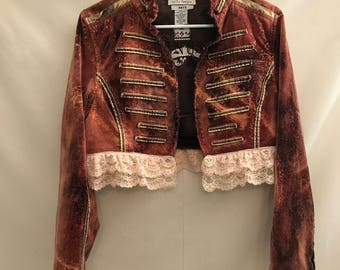Reinvented lace trimmed Jacket