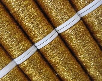 LUXETA: embroidery thread metallic yellow gold