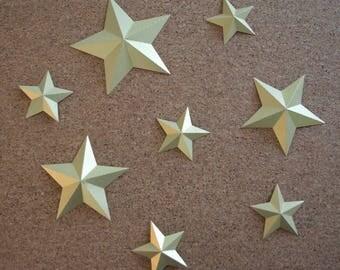 Stars embossed iridescent Golden for your home decor