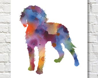American Water Spaniel Art Print - Abstract Watercolor Painting - Wall Decor