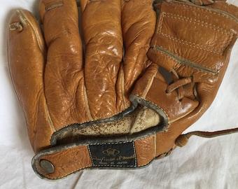 Vintage Baseball Glove; Made in Japan; W Professional Model; Left Hand Glove