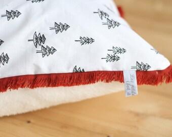 Cotton & cozy pillow cover rectangular fringe - child decor