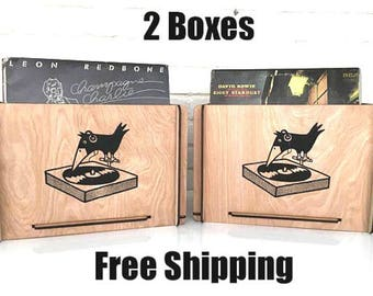 Vinyl Record Storage Crates  -  Price Includes Two Boxes and Free Shipping
