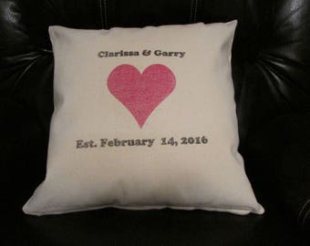 Anniversary gift,Wedding Day gift ,Couples gift,Wedding Shower gift,Personalized Pillow cover,Anniversary  Pillow cover,Valentine's day gift