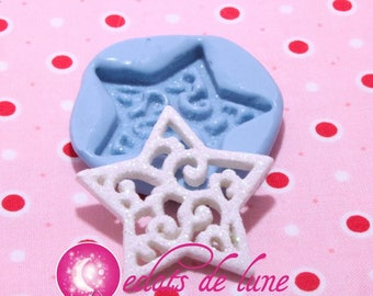 Mold silicone star Christmas 40mm