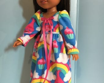 Flannel nightgown for dolls