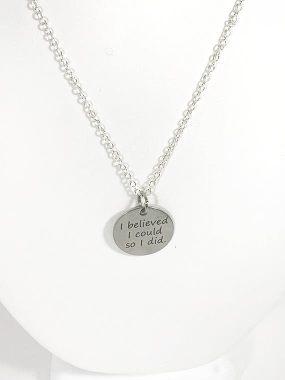 Encouragement Gift, Motivational Gift, I Believed I Could So I Did Necklace, Direct Sales Team Gifts, Inspiring Success, Success Gifts