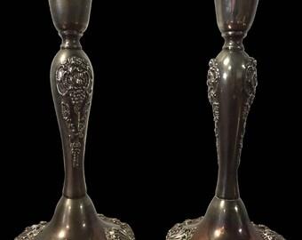 Godinger Antique, Baroque Silver Candlestcks