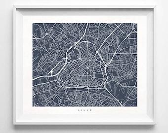 Lille Map, France Print, Lille Poster, French Art, Nursery Wall Decor, Bath Decor, Children Art, Children Room Prints, Valentines Day Gift