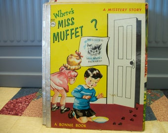 1959 Where's Miss Muffet? a Misstery Story  A Bonnie Childrens book