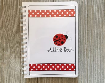 Adorable Lady Bug Address Book - Spiral Bound