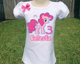 Birthday girl shirt, Birthday pony shirt, pinkie pie shirt, my little pony shirt.