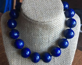 Bold Statement Lapis Necklace