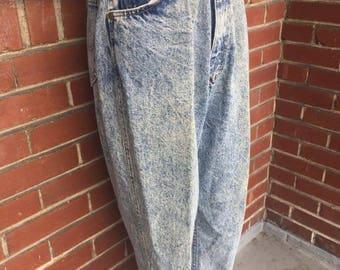 vintage mom jeans acid washed SIZE30