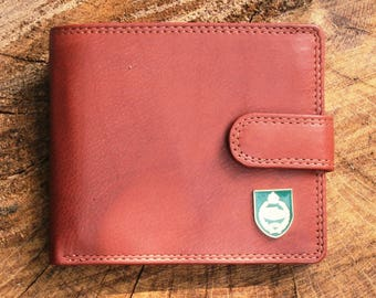 Royal Tank regiment Leather Wallet Brown or Black Military Gift ME37
