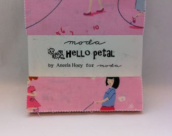 HELLO PETAL by Aneela Hoey for Moda,  OOP Charm Pack