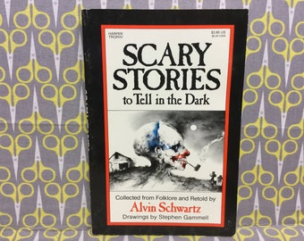 Scary Stories to Tell in the Dark by Alvin Schwartz paperback book Vintage Horror Stephen Gammell
