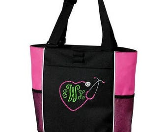 Personalized Embroidered Nurse Tote Bag Nursing Gift