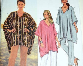V-Neck Tunic and Pants Butterick Sewing Pattern 3901