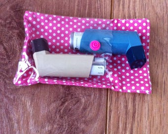 Invisibags - Asthma Double Inhaler See-through Invisibag Pouch Bag