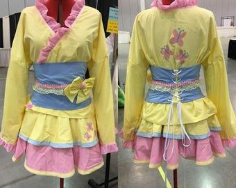 Fluttershy Kimono Dress - READY TO SHIP