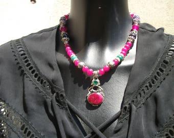 genuine Ruby pendant necklace.