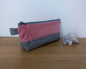 Waterproof pouch for pencils new FORMAT evieux pink fine feuillag