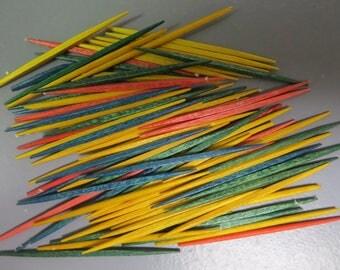 colored toothpicks