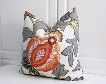 Mandarin orange Pomagranate Decorative Pillow Cover- 20x20, 22x22, 24x24