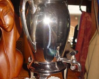 Antique 1920 Landers Frary & Clark Electric Coffee Urn Pot ~ three legged