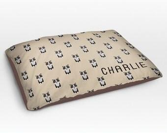 Personalized Border Collie Dog Bed, Dog Beds, Large Pet Bed, Cute Dog Duvet, Custom Name Dog Bed Pillow, Dog Gifts for dog