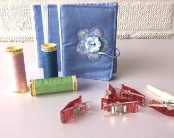 Blue  Needlebook  Needle holders. Needle Case, Gift for Sewers, Needle storage