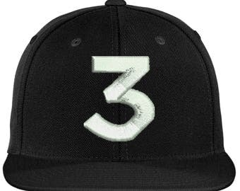 Chance  Number 3 Hat Inspired 3D Puff | Chance | Chance Rapper | Chance the Rapper | 3 hat | Chance 3 | Chance Dad Hat | Chance Cap