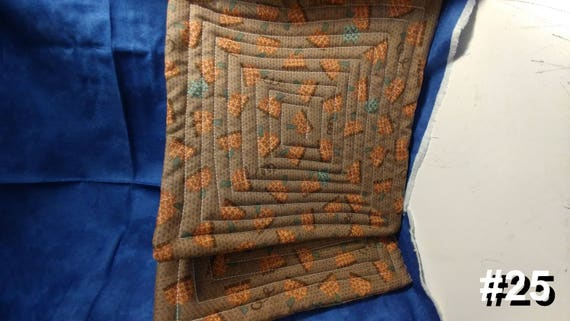 CHARITY (Brown with orange and blue design HOT PAD set of 2 #25)