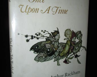 Once Upon a Time: The Fairy-Tale World of Arthur Rackham 1978 Children's Vintage Book