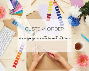Custom Design - Engagement Invites - Invitation Design - Custom Engagement - Unique Invitation - Invitation Suite - Custom Invitations