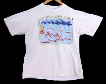 VTG 1993 Yakima Air Fair T-Shirt - Medium - Airshow - 90s - Snowbirds - Blue Angels - Distressed - Vintage Tee - Vintage Clothing -